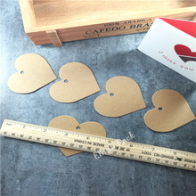 5.2*7cm 100PCS Love Heart Packing Label For Gift Wedding Cardboard Etiquetas High-Quality Kraft Paper Tag Labels free shipping