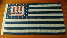 New York Giants Stripes And Stars white   Flag  150X90CM Banner 100D Polyester flag brass grommets 001, free shipping