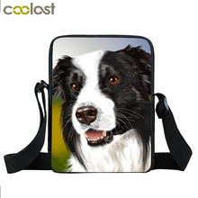 Brand Dog Labrador Rottweiler Border Collies Bag Women Mini Messenger Bags Kids School Bags Girls Bookbag Travel Bag Best Gift(China)