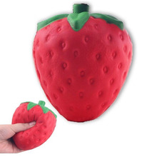 Super Squishy Strawberry jumbo Squeeze Phone Straps Slow Rising Charms Fruit Scented Collection Simulation Decoration ibloom