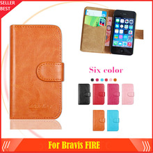 Bravis FIRE Case Factory Direct! 6 Colors Dedicated Leather Exclusive Special Phone Cover Crazy Horse Cases+Tracking(China)