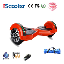 IScooter hoverboard 8 inch Bluetooth 2 Wheel Self balancing Electric Scooter two Smart Wheel with Remote key And LED Skateboard(China)