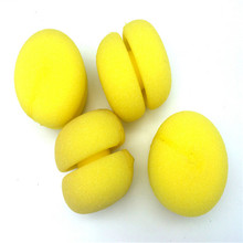 Free Shipping  Yellow Balls Soft Sponge Hair Care Curler Lovely cake Hair Rollers  Mushroom Hair Rollers