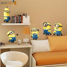 % minions movie wall stickers kids room home decorations diy pvc cartoon decals children gift 3d mural arts posters wallpaper(China)