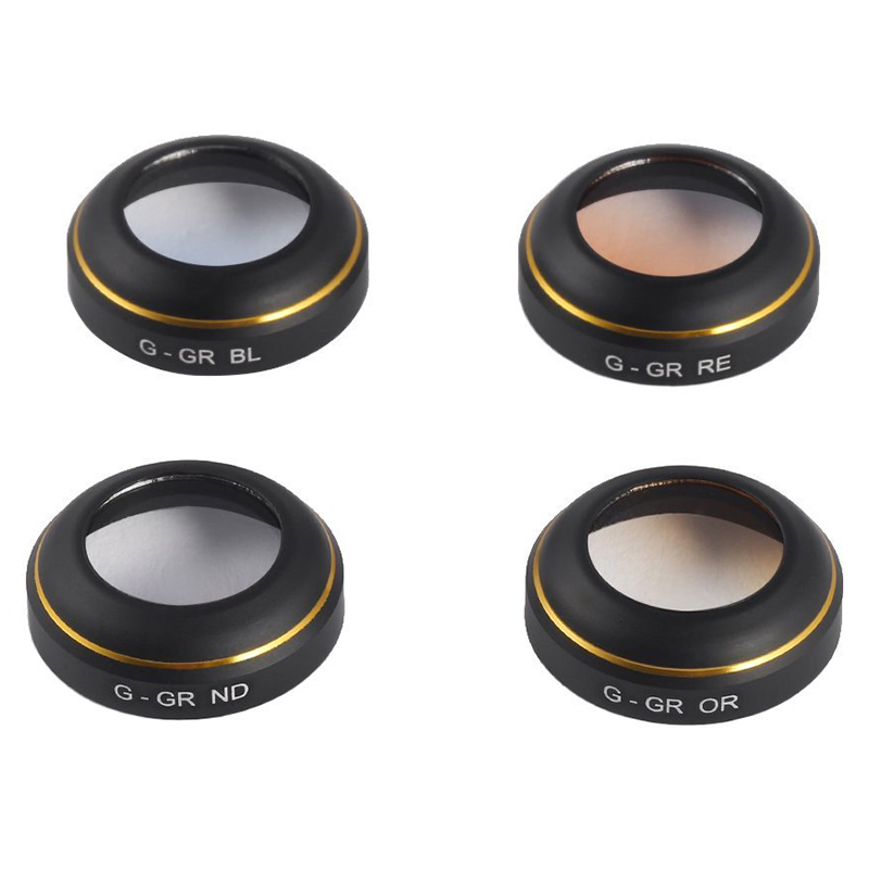 4 Pack RC Four – axis aircraft Graduated Lens Filter Camera Lens Filters for DJI Mavic Pro Drone (4 in 1 Gradient)