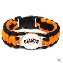 (10 Pieces/Lot) San Francisco giants baseball Team Paracord Survival Bracelet Friendship Outdoor Camping Sports Parachute Rope