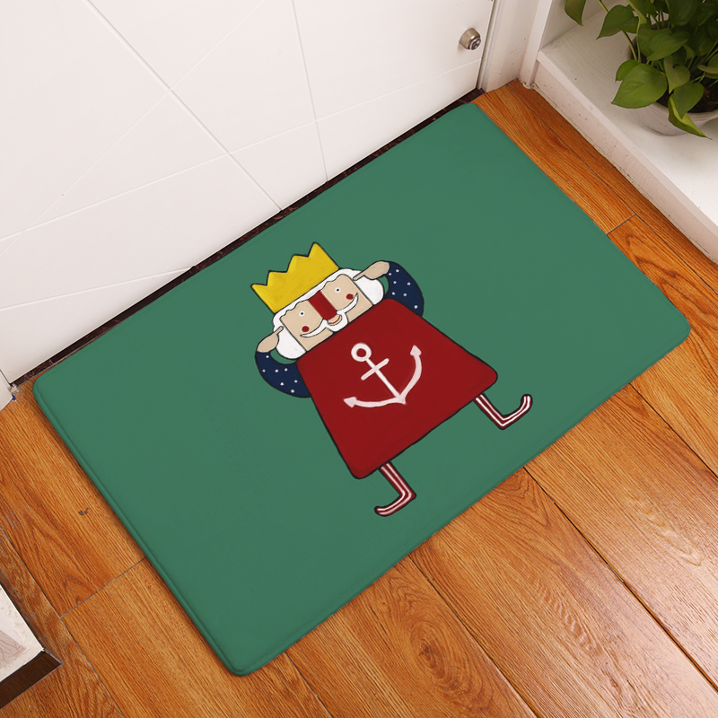 Cartoon Flannel Carpet King Printing Mat For Living Room 40x60cm 50X80cm  Door Mat Rectangle Tapete   Us871