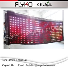 Occupation of the world market flyko stage led video curtain led video background wall p90mm(China)