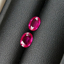 1.35 carats one pair Vivid Rose Red Natural Ruby Loose Stone Burma Strong Fluorescence NGTC Certificate(China)