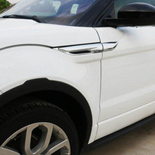 wing fender Air Flow Vent shark gills grille outlet vents cover trim sticker for range rover evoque chromium styling Accessories