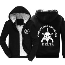 New BOPE Elite Death Squad Brazil Special Force Unit Military Police Hoodies Mens Cotton Keep Warm Jacket Winter Coat Sweatshirt(China)
