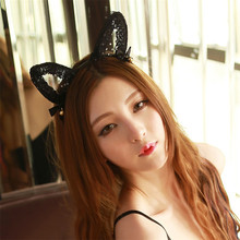Buy Morease Lace Bells Cat Ear Adult Game Headband Black Sexy Cat bdsm fetish erotic bondage brinquedos sexuais Women Couple