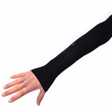 Section Drove UV Sunscreen Half Finger Long Gloves Cuff Outdoor Arm Sleeve Sun Hand Protection Women Fingerless Gloves drop ship(China)