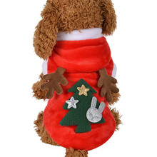 Polyester clothes Christmas Cute Elk Dog Costumes Hoodie Coats Pet Clothes Sep26 Professional