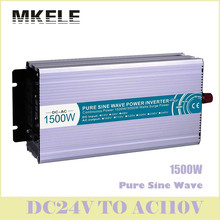 New MKP1500-241 1500w Inverter 24v To 110v Off Grid Dc-Ac Pure Sine Wave Voltage Converter Solar LED Digital Display China