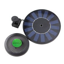 Solar-power Fountain Brushless Pump Energy-saving Plants Watering Kit with Monocrystalline Solar Panel for Bird Bath Garden Pond