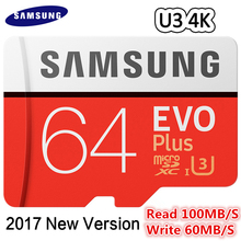 SAMSUNG MicroSDcard Memory Card 32GB64GB 128GB free shipping Class10 TF Card 80MB/S 100MB/S gift Adapter UHS-3 Trans Flash U3 4K