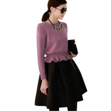 2016 Women Sewaters and Pullovers Autumn & Spring Knitting Wool Female Knitted Sweater Dress Feminino Shrug Jumper Pullover