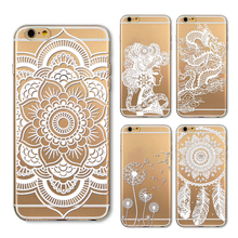 Buy Soft Phone Case Cover iPhone 6 6s 6plus 7 7s 7plus Silicon Clear Vintage Datura Paisley Flower Mandala Henna Dreamcatcher for $1.11 in AliExpress store