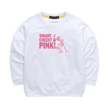 Cute Cartoon Pink Panther Pattern Boys&Girls Sweatshirts Spring/Autumn Casual Long Sleeve Kids Clothes Children Tops T-shirt