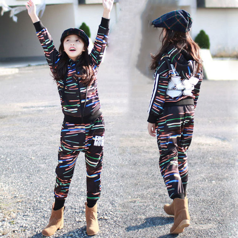 Kids Performance Clothes Sets Tops + Pants Children Jazz Dance Clothings Boys Girls Street Dance Hip Hop Dance Costumes H34<br>