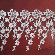 Hot Selling White Lace Fabric Lace Trims Fringe Sewing Trimmings DIY Craft Clothing Accessory Handcrafted Supplies
