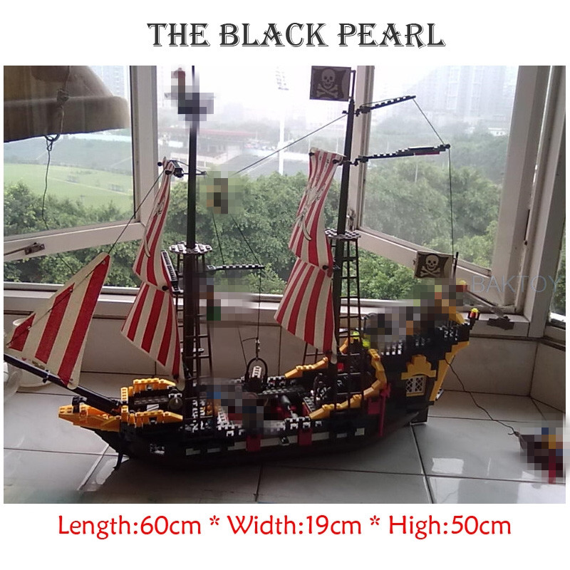 Enlighten 308 870 Pcs Pirates Series Black Pearl Model Building Blocks Kit Bricks Educational Toys Gifts Compatible With Lego<br>