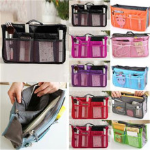 Korean Hot storage bag  cosmetic bag wash bag multifunction consolidation double zipper storage bags free shipping EN658