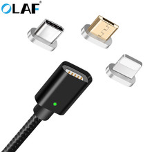 Buy OLAF LED Magnetic Cable Apple Samsung Micro USB Type C Phone Cable iPhone X 7 Xiaomi 1m 2.4A Fast Charge Magnet Charger for $4.39 in AliExpress store
