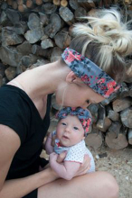 Mom and Me Headband With Knit Fabric Girl Headband Mommy and me Matching Headbands Photo Prop Gift for Mom and kids 1Set