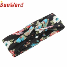 Woman Stretch Twist Turban Headband Exercise Headbands for Women Flower Hijab Headscarf Bandana Girls Hair Accessories Jan16