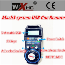 2016 Version Wireless Manual Pulse Generator USB 4 axis remote control Mach3 CNC Milling Machine