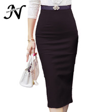 High Waist Pencil Skirt Plus Size Tight Bodycon Fashion Women Midi Skirt Red Black Slit Women's Skirt Fashion Jupe Femme S - 5XL