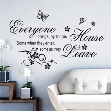 Happy butterfly flying around the house wall sticker living room bedroom Decal 8447 Home decor(China)