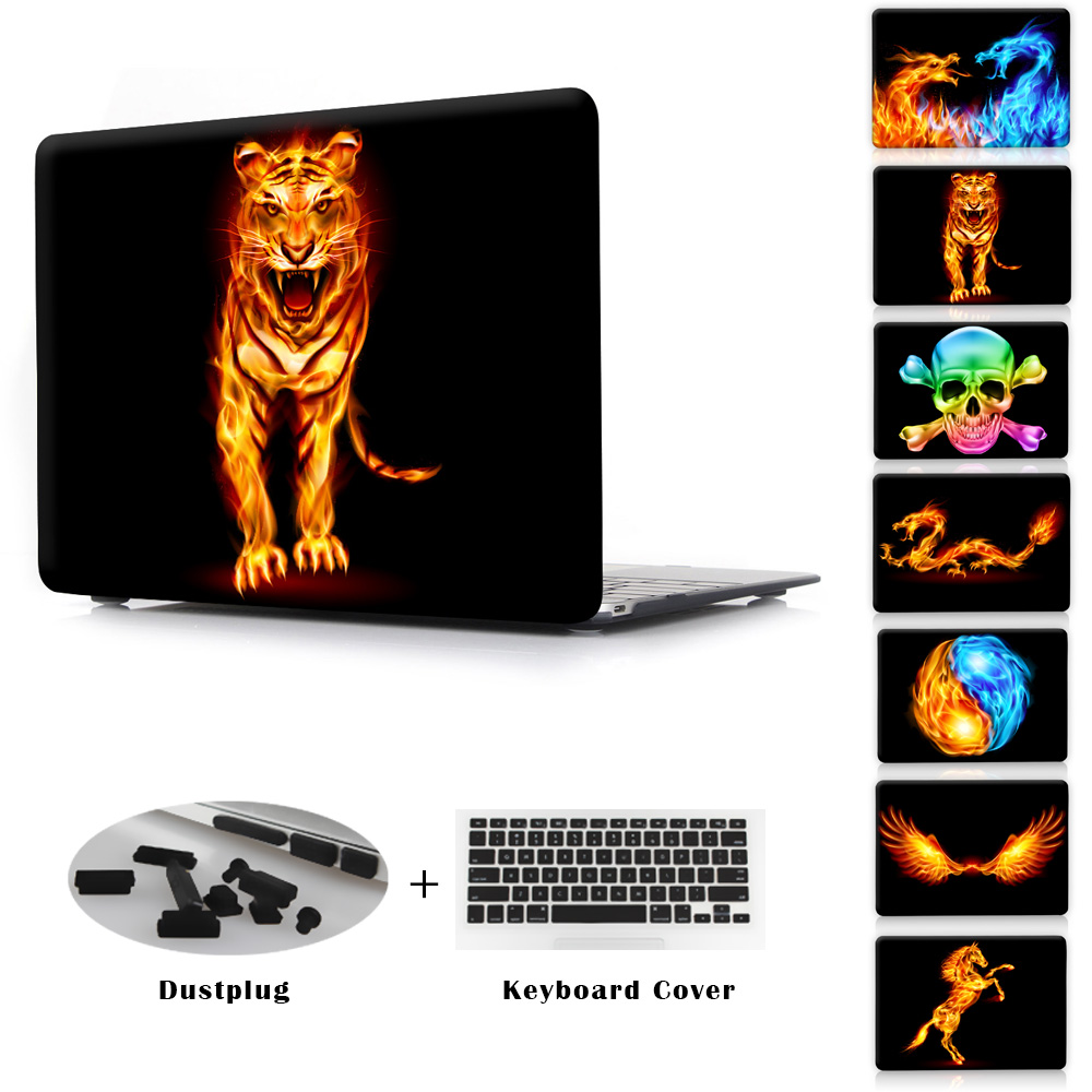Fire Animals Series Dragons &amp; Tiger New Hard Plastic Case For Macbook Pro 13 15 Air 11 13 New Retina 12 13 15 Sleeve Bag Cover<br><br>Aliexpress