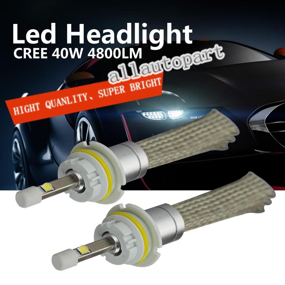 NEW R3 9004 LED Car Headlight C REE XHP-50 Chips H/L beam  40W 4800LM Aluminum  LED Headlight conversion Kit Cool White light<br><br>Aliexpress