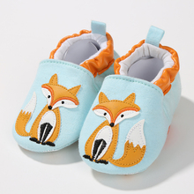 Spring Fall Infant Toddler Newborn Girls Boys Cotton Soft Sole Cute Crib Shoes Slipper Skid-Proof Cartoon Baby Shoes Fox(China)