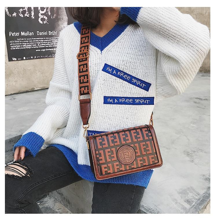2019 Of The Small Square Fashion Women's vintage Shoulder Bag Shoulder Bag Messenger Bag Mobile Phone Bag Brand original design 11 Online shopping Bangladesh