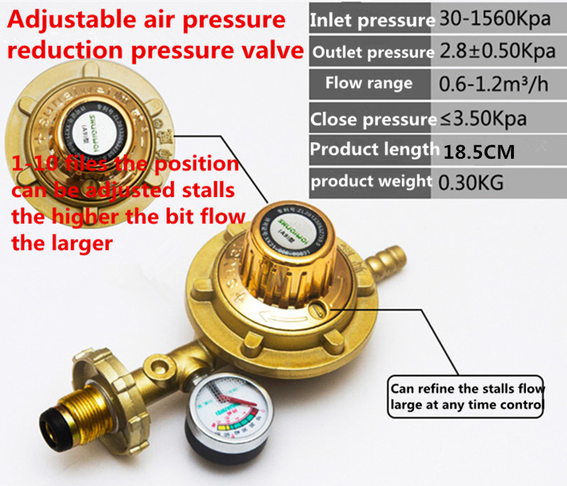 Emerald green home gas gas stove water heater liquefaction valve<br><br>Aliexpress