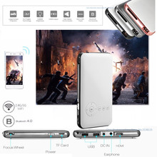 Mesuvida D02 DLP Mini Portable Wireless Projector 50 ANSI 8/16/32G Android 4.4 Smart Media Player 2.4G 5G WiFi Bluetooth 4.0