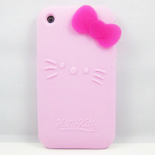For Apple IPhone 3G 3GS Case Cover Bowknot Hello Kitty Silicone Soft Phone Cases Cover for IPhone 3G 3GS