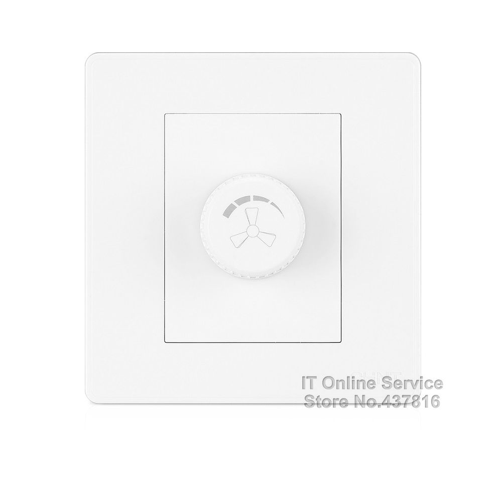 High Quality 2017 NEW2D Fan Speed Control Wall Switch Elegant Large Panel Ivory White Fan Controller Knob Switch<br><br>Aliexpress