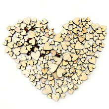 100 Pcs Wholesale Natural Wooden Love Heart Shape Buttons Scrapbook Sewing Accessories DIY Craft