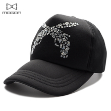 2017 Sale Limited Cool Summer Rhinestone Women Baseball Cap Guns Pattern Truck Breathable Mesh Casual Hat Adjustable Snapback