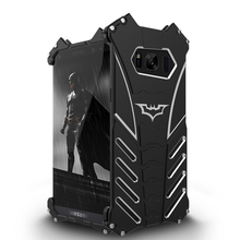 R-Just Batman for Samsung Galaxy S8 S8 Plus Mobile Phone case Aluminum Metal Armor cover with R Just Medal Holder bracket