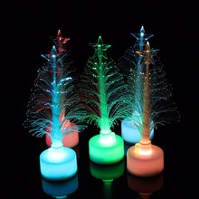 Christmas Tree Ice Crystal Colorful LED Desk Decor Table Xmas Lamp Light Night Colorful Christmas Tree Home Decorations