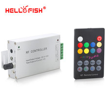 12-24V 18 Keys Audio input Wireless RF Remote Controller,LED Music Sound Control RGB led Controller Dimmer for RGB LED Strips(China)