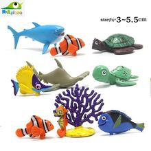 Set of  10 Cartoon Finding Dory  2 Nemo Marlin Bruce Dory PVC Action Figure Collection Model Kids Toy Doll 5.5 cm