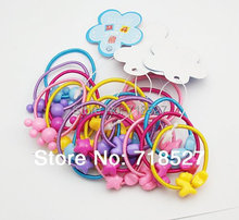 100 Pieces Fashion Cute Hairbands Hair Bobbles Pony Tail Holder Elastic Heart Star Doggy Boutique Mixed Design