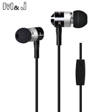 M&J 2016 Newest In-Ear Stereo Earphone 3.5mm Headsets Wired Earphone With Microphone For Xiaomi Sumsang Huawei Ear Phone(China)